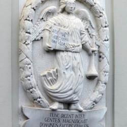 Sárospataki Kollégium címere-dombormű